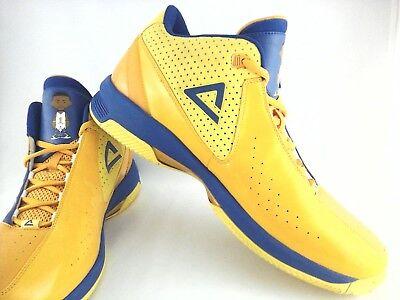 Peak DW  Mens Basketball NBA Sneakers Shoes Lakers Colors Yellow Blue Ultra Rare