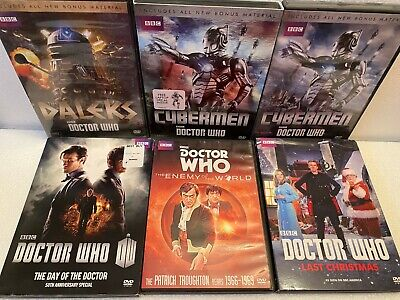 Nine Doctor Who Dvd's and Monster Gift Set