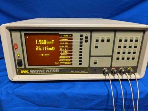 Wayne Kerr 6425 Precision Component Analyzer LCR Meter Test Fixture & Manual
