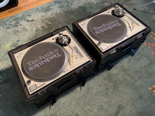 Technics SL-1200MK5 turntables w/ flight cases, ortofon concorde gold cartridges