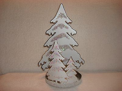 Bath & Body Works Sparkly Winter Snow Trees Candle Sleeve Holder for 3-Wick - Sparkly Candles