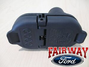 ford trailer plug ebay Ford E350 Trailer Wiring 15 19 f 150 \u0026 17 19 super duty f250 f350 oem ford trailer tow hitch wiring plug (fits ford)