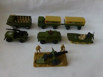 1970's  Matchbox Super Fast 7 Military Vehicles & Figurine Mint Condition