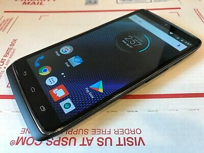 Motorola Droid Turbo - XT1254 - 32GB - Black (Verizon) Good Condition - Works