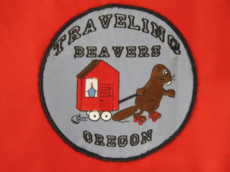 Rare OSU TRAVELING BEAVERS Flag. Vintage Oregon State Sports RV CLUB? Tailgating