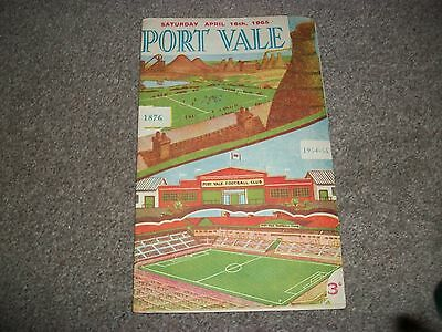 PORT VALE v BIRMINGHAM CITY  League April 16th  1954/55