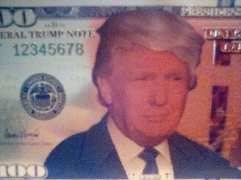 100 dollars President Donald Trump. 24k Gold Foil 2 sided anything but real bill