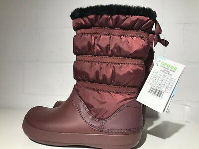 Crocs Boots Stiefel Crocband Winter Boot Burgundy Rot Gr. 5 UK, 37-38...
