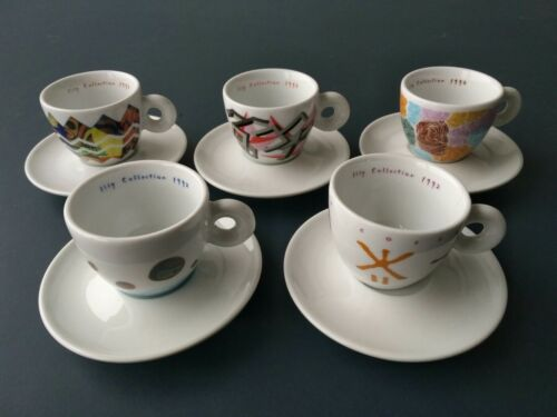 Vintage Classic Richard Ginori, 5 Espresso Cups, Illy Collection 1992