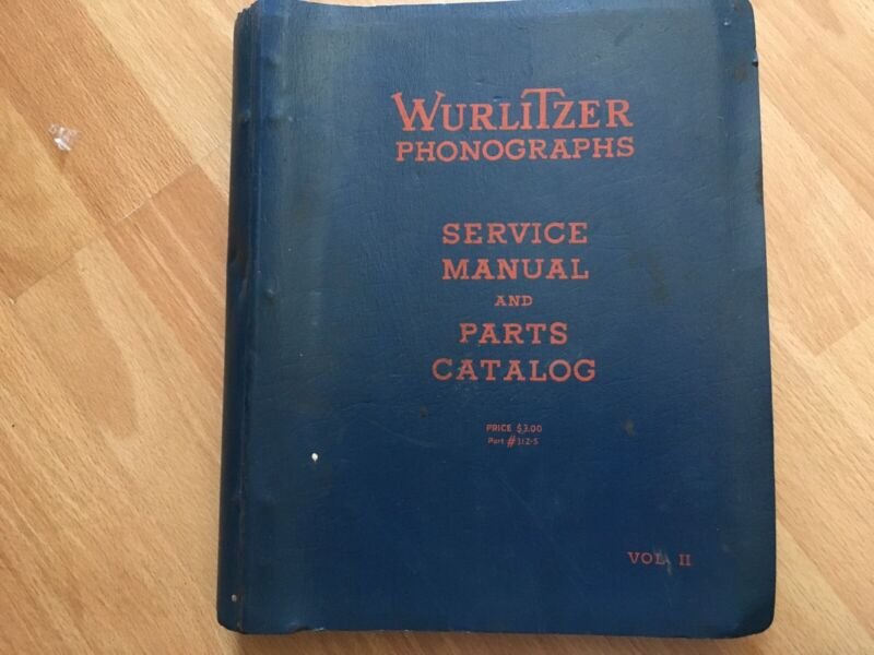 Rare Old Wurlitzer Jukeboxes Service & Parts Manual 5210 5250 Wall & 1900-2250