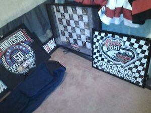 Sports Memoriblia (Hamilton Ti Cats, NASCAR Coat and Pictures)