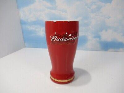 Budweiser Ceramic Pilsner 16 Ounce Red EUC Beer Mug Heavy