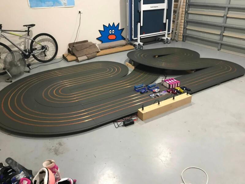 4-lane slot car track Scalextric track   Toys - Indoor   Gumtree