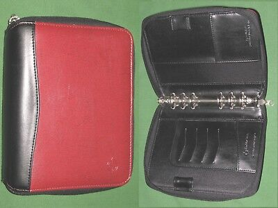 Compact 1.0 Red Faux Leather Franklin Covey Planner Binder Organizer 2128