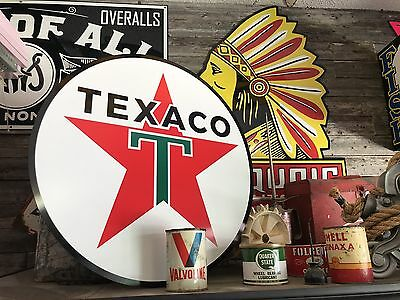 """Antique Vintage Old Style Texaco Sign 24"""""""