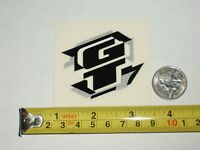 Set of 2 GT OUTPOST Sticker Decals//mountain bike//2-Tone Yellow//Black