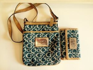Guess cross body bag with matching wallet