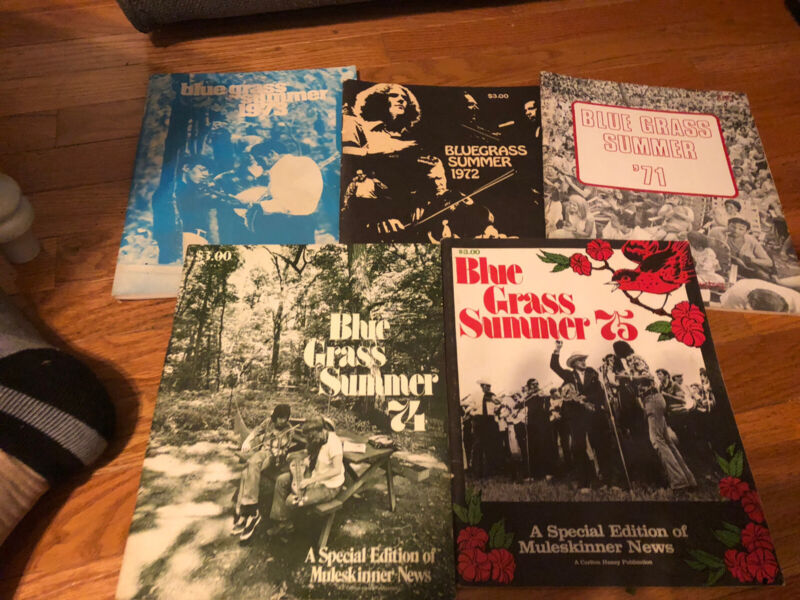 Lot of 5 Blue Grass summer 1971-1975 a Muleskinner news extra magazine lot