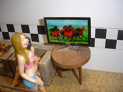 1/18 - WIDE Screen - FLAT Panel TV - SCALE - for your shop/garage/diorama Widescreen Flat Panel