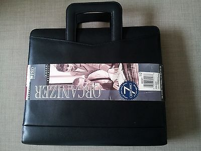 Dayrunner Leather Zip Around Business Organizer With Retractable Handles