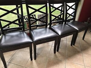 Wooden dining chairs Helensvale Gold Coast North Preview