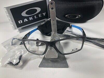 Oakley Crosslink Rx Eyeglasses 8090-0255 Satin Gray Smoke 55/17/137 Gently Used