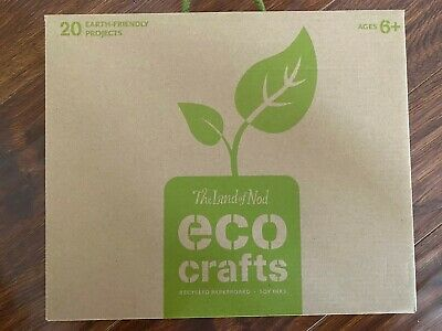 The Land of Nod - Eco Crafts - Recycled Paperboard - Soy Inks - New Sealed