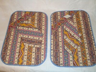 Set of 2 French Provencal placemats with napkin, Avignon, France 100% Cotton
