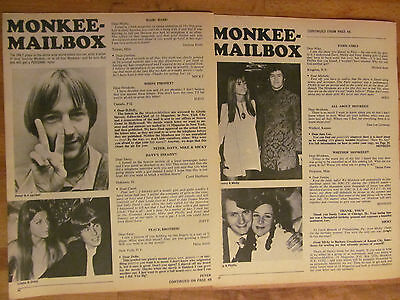 The Monkees, Two Page Vintage Clipping