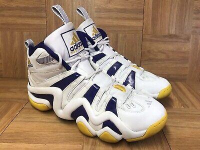 f25c886d79d0 Vintage🔥 Adidas Kobe Bryant Crazy 8 White Gold Sunshine Lakers Sz 12 Men s   06