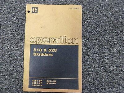 Caterpillar Cat 518 528 Skidder Owner Operator Maintenance Manual 50s 51s 55u