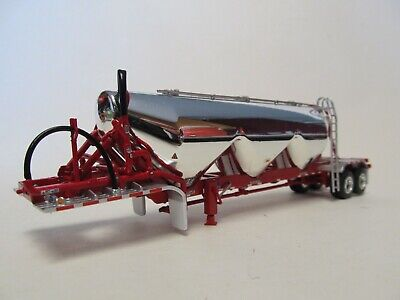 DCP FIRST GEAR 1/64 SCALE CHROME RED FRAME TANDEM AXLE HEIL PNEUMATIC TANKER