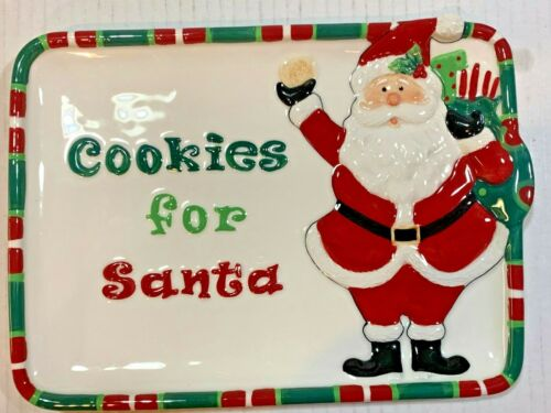 HOLIDAY HOME by FITZ AND FLYOD Cookies For Santa Platter/Plate/Tray