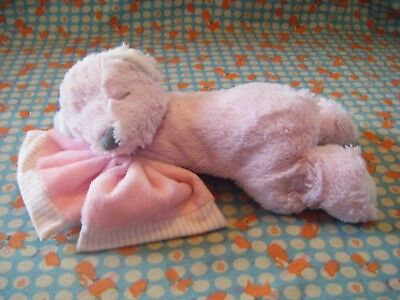 Suki Baby Hug-a-Boo Soft Plush Musical Bear With  Pink Comforter 10