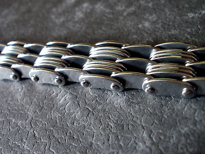 Damen und Herren Edelstahl Glieder Armband 22 cm Farbe Silber 0979