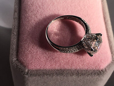 3 CT Round Cut D/VS2 Diamond Engagement Ring 18k White Gold Finish