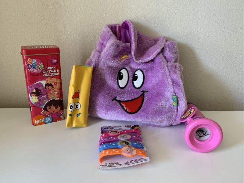 2007 Dora The Explorer Plush Mr. Face Backpack Rescue Pack Sparkle Plus Items