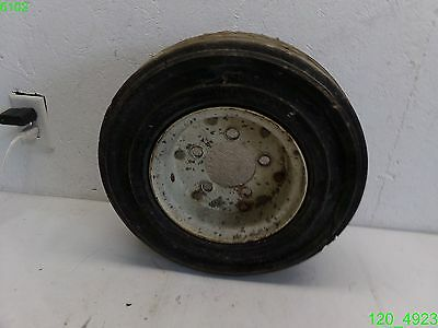 Forklift Solid Tire 400x8x3.75 With Rim 5 Lug On 4-14 Overall Dia 16- Used