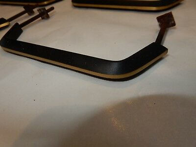 CABINET Sliding Door Handles 1950s era matt black  vintage set of 12 SUIT ERCOL
