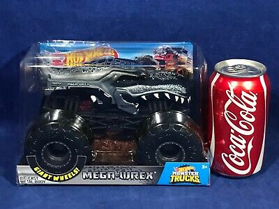 New - MEGA-WREX Silver Grey - 1:24 HOT WHEELS Giant Wheels MONSTER TRUCKS 2018