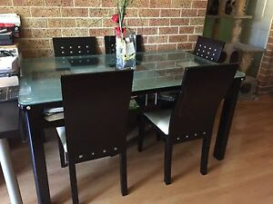 Glass top Table +6 chairs $300 Sylvania Sutherland Area Preview