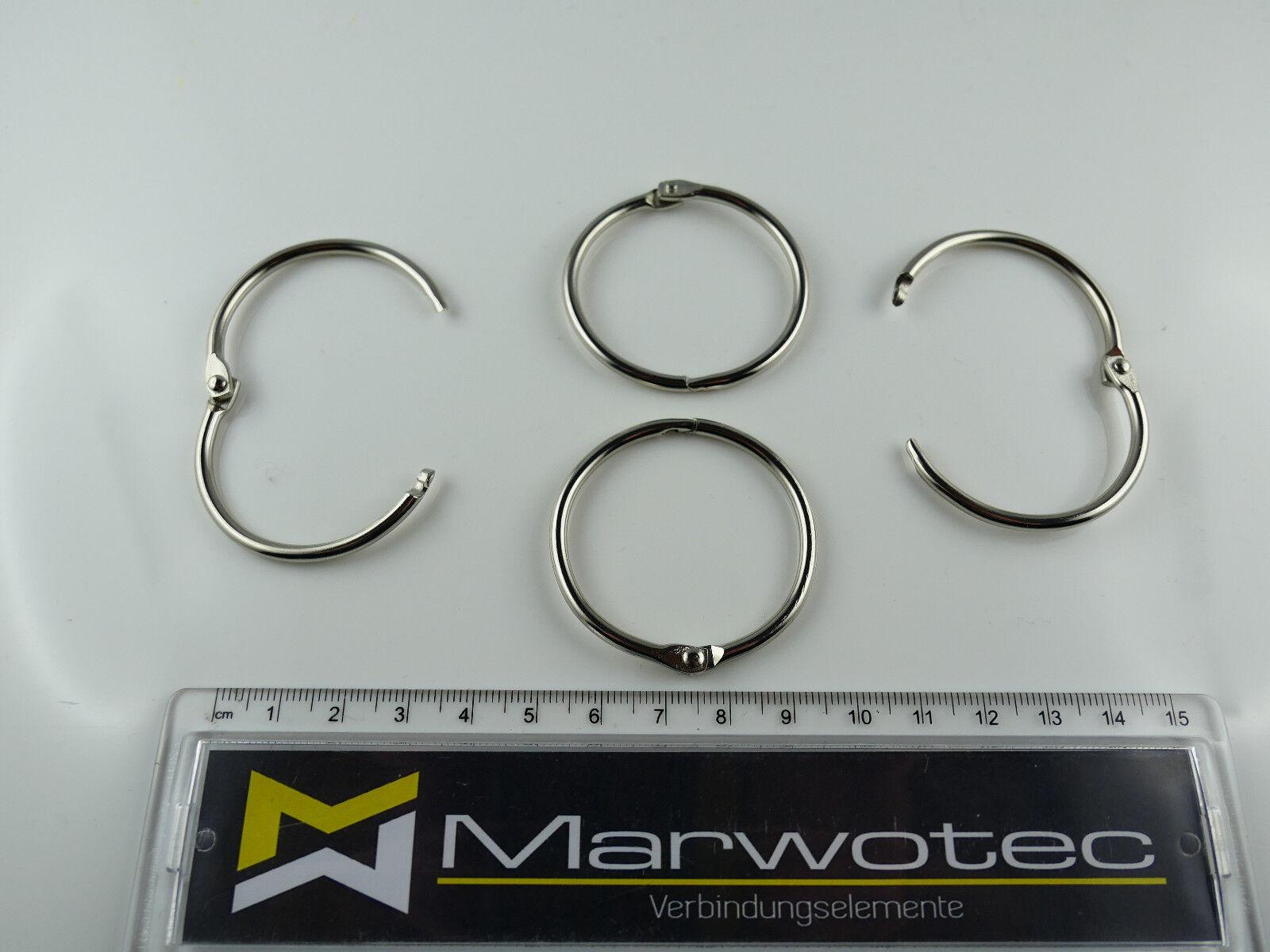 Schlüsselringe Aufklappbar  Heftringe von 14-38mm Heftring wählbare Größen
