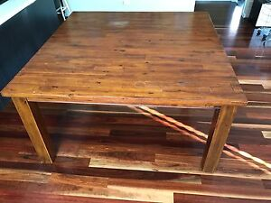 Solid oak - Square dining table Derrimut Brimbank Area Preview