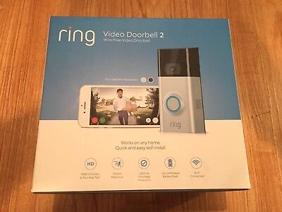 NEW RING DOORBELL 2 VIDEO WI-FI 2 WAY TALK 1080 HD CAMERA UPDATED FREE SHIP
