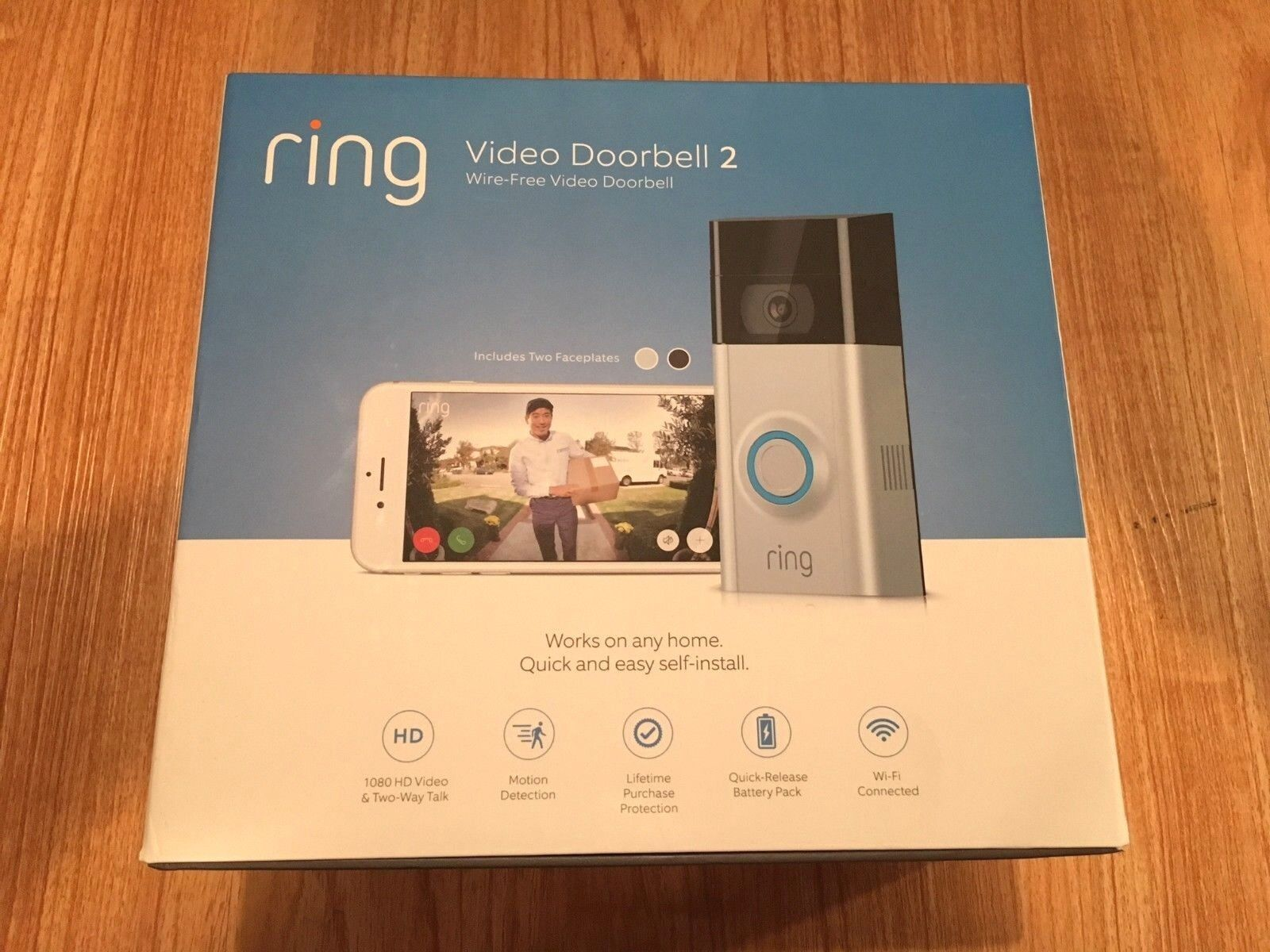 Ring - NEW RING DOORBELL 2 VIDEO WI-FI 2 WAY TALK 1080 HD CAMERA UPDATED FREE SHIP
