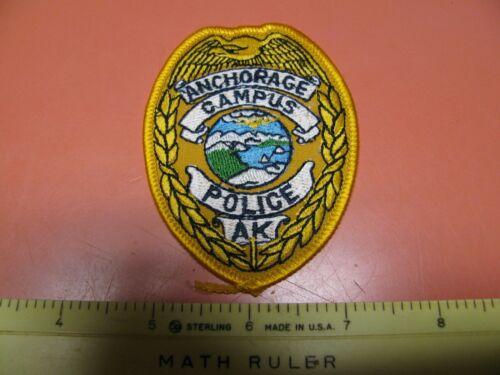 OLDER ANCHORAGE CAMPUS POLICE ALASKA PATCH ~NICE~