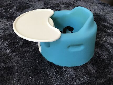 Bumbo floor seat with tray and safety harness