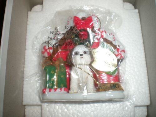 Danbury Mint 2009 Shih Tzu Christmas Ornament, NIB