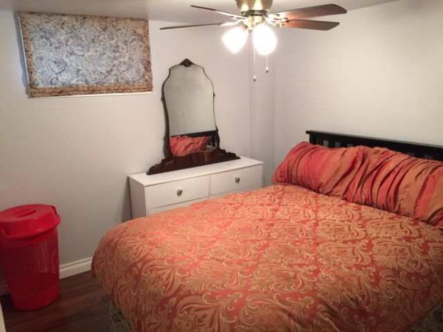 Newly Renovated Furnished Bedroom For Rent with Own Living Room