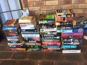 Bulk lot 50 novels smith Clancy archer brown books